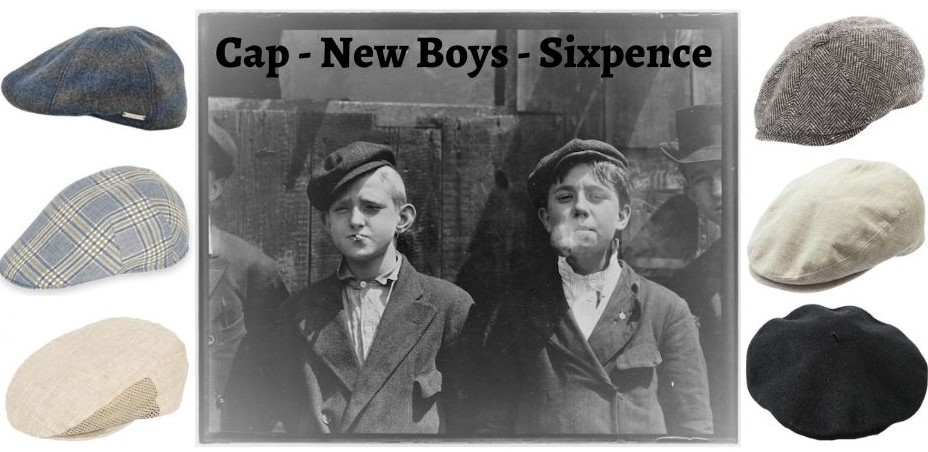 Newsboy Cap, Caps, Sixpence i Tanges Magasin